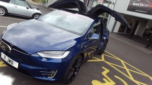 Tesla Model X detailed Perfect Polish Telford